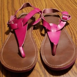 Mossimo Supply Co. Shoes - Mossimo pink t strap sandals